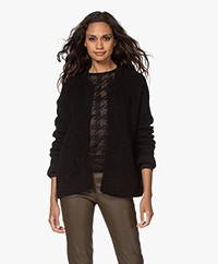 By Malene Birger Apios Open Mohair Blend Cardigan - Black