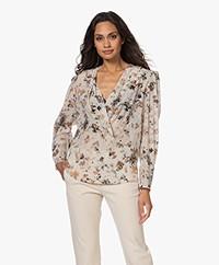 IRO Myla Silk Blend Printed Blouse - Beige/Multi-color