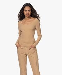 JapanTKY Tiyo Reversible Jersey Long Sleeve - Camel