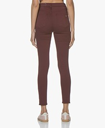 Rag & Bone High Rise Ankle Skinny Jeans - Burgundy