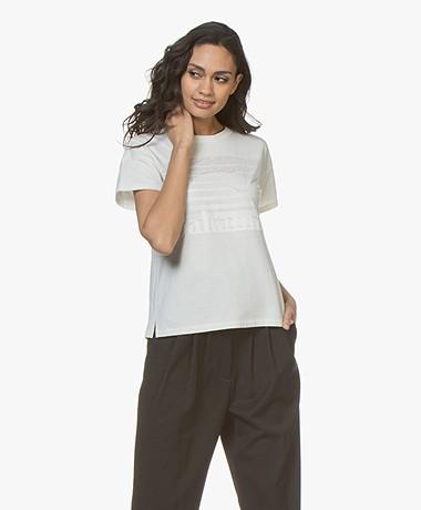 Rag & Bone Bahamas Burnout Print T-shirt - Ivory