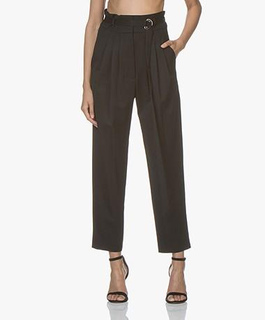 IRO Superb Paperbag Pantalon - Zwart