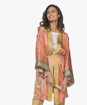 forte_forte Italian Riviera Kimono - Albicocca Print