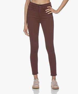 Rag & Bone High Rise Ankle Skinny Jeans - Bordeaux