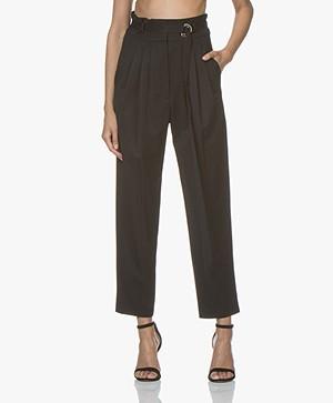 IRO Superb Paper Bag Pants - Black