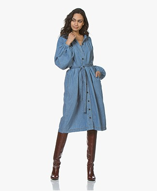 Closed Piper Denim Shirt Dress - Blue