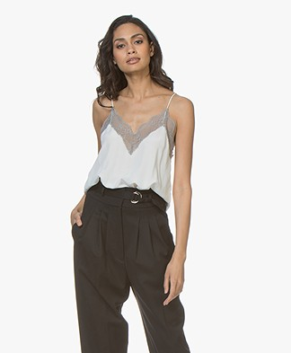 Zadig & Voltaire Christy Silk Camisole - Judo/Grey
