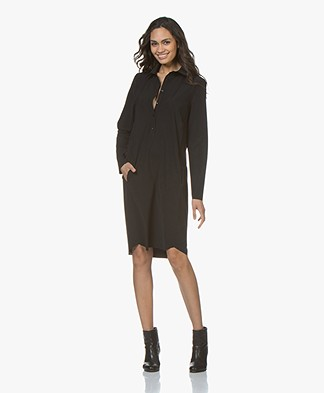 JapanTKY Zwi Travel Jersey Shirt Dress - Black