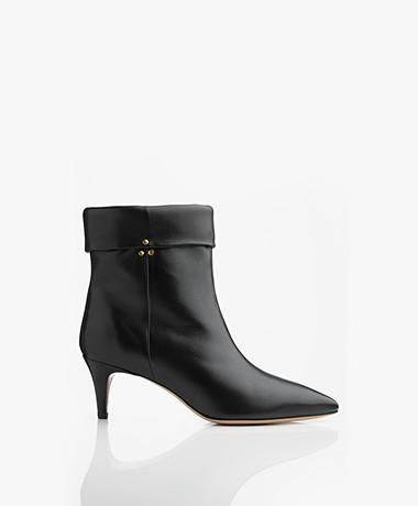 Jerome Dreyfuss Annie Lambskin Ankle Boots - Black