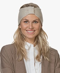 Resort Finest Cashmere Wool Blend Hair Band - Beige
