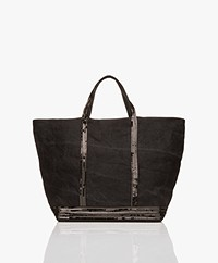 Vanessa Bruno Large Linen Shopper - Black