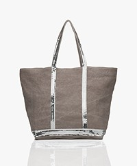 Vanessa Bruno Medium Linen Zip Shopper - Calcaire
