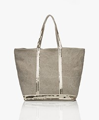 Vanessa Bruno Medium Linnen Shopper met Rits - Sable