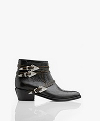 Zadig & Voltaire Pilar Used Strass Ankle Boots - Black