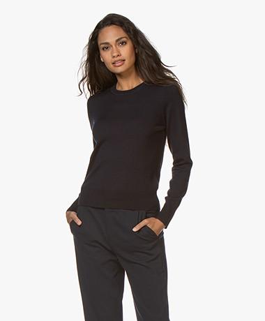 Filippa K  Merino R-neck Sweater - Navy