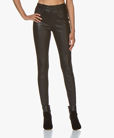 Drykorn Winch Skinny Leather Pants - Black