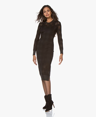 Rag & Bone Charlotte Knitted Midi Dress - Black
