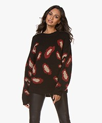 ba&sh Leo Leopard Dessin Sweater - Black