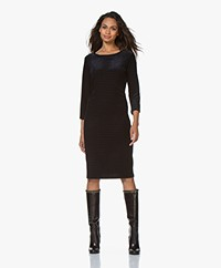 no man's land Burn-out Velvet Dress - Lagoon