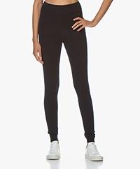 extreme cashmere N°112 Dance Gebreide Cashmere Legging - Navy
