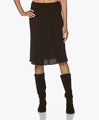 Belluna One Knitted Pleated Skirt - Black