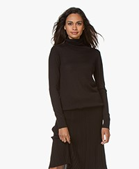 LaSalle Wool Blend Turtleneck Sweater - Black
