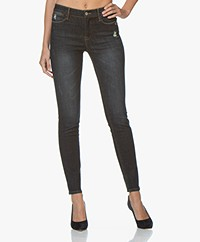 Repeat Distressed Skinny Jeans - Indigo