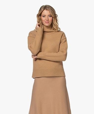 Rag & Bone Lunet Lambswool Turtleneck Sweater - Camel