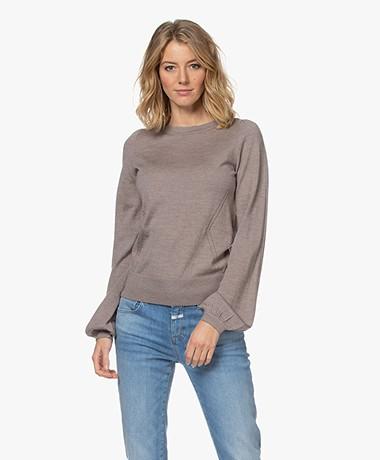 Plein Publique La Coeur Merino Wool Sweater - Taupe