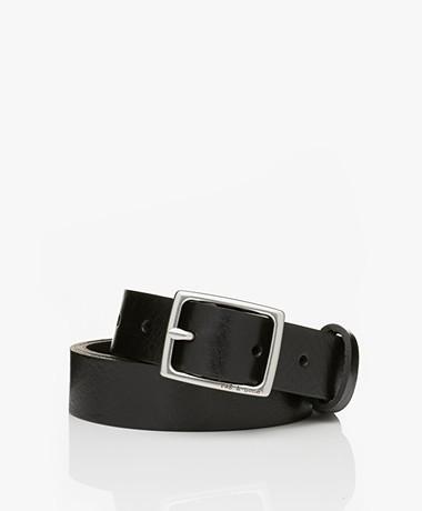 Rag & Bone Baby Boyfriend Leather Belt - Black