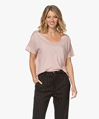 Rag & Bone The Gaia Organic Pima Cotton T-shirt - Mulberry Spritz
