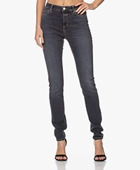 Closed Lizzy Organic Shaper Denim Skinny Jeans - Donkergrijs