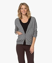 LaSalle Cashmere Button-through Cardigan - Grey