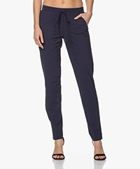 LaDress Valencia Printed Travel Jersey Pants - Midnight Mist