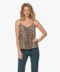 Equipment Layla Leopard Printed Silk Camisole - Beige