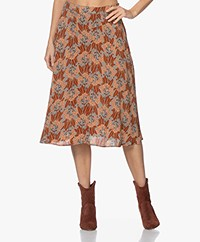 indi & cold Printed Viscose Skirt - Canela