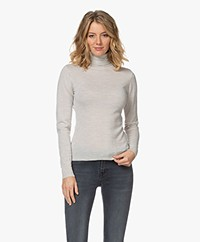 by-bar Lisa Fine Knit Merino Turtleneck - Light Greige