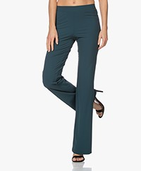 LaDress Siena Travel Jersey Flared Pants - Dark Emerald