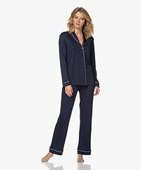 HANRO Natural Comfort Tencel Pajama Set - Deep Navy