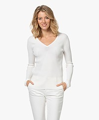 By Malene Birger Dinema Rib Jersey Long Sleeve - Soft White
