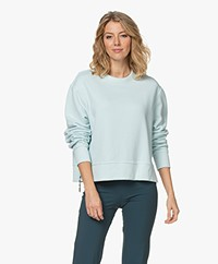 Rag & Bone Frankie Side Zip Sweatshirt - Snowblossom