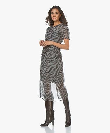 Rag & Bone Maris Printed Chiffon Dress - Black