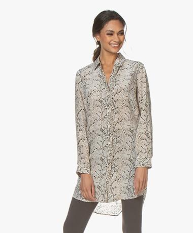 Equipment Essential Silk Shirt Dress - Snake Print