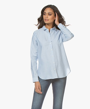 Closed Devin Katoenen Chambray Blouse - Porcelaine