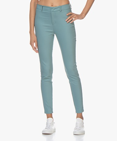 Drykorn Winch Skinny Stretch Pantalon - Vergrijsd Blauw
