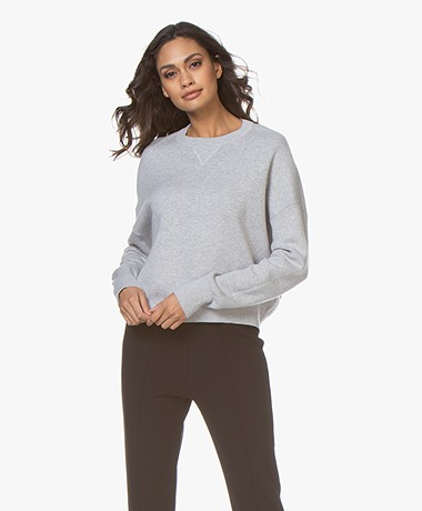 Filippa K Soft Sport Double Knit Sweater - Light Grey