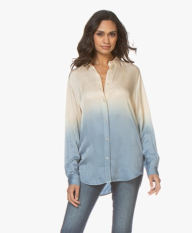 forte_forte Dip Dye Satin Blouse - Indaco