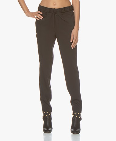 Closed Kay Tech Jersey Pants - Black