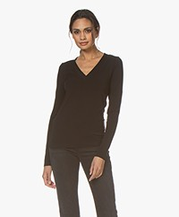 Wolford Aurora Cradle-to-Cradle V-neck Long Sleeve - Black