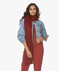 Alpaca Loca Handgemaakte Uni Sjaal in Alpaca - Wine Red